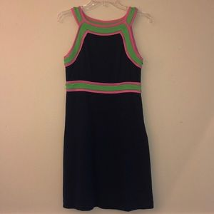 Lilly Pulitzer Navy Sheath Dress Size 2